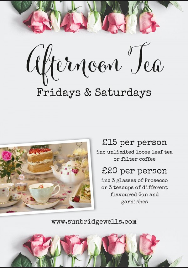 Afternoon Tea - Every Friday and Saturday