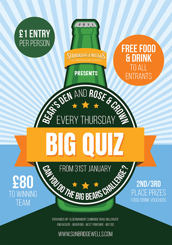 Big Quiz - Starts 8pm