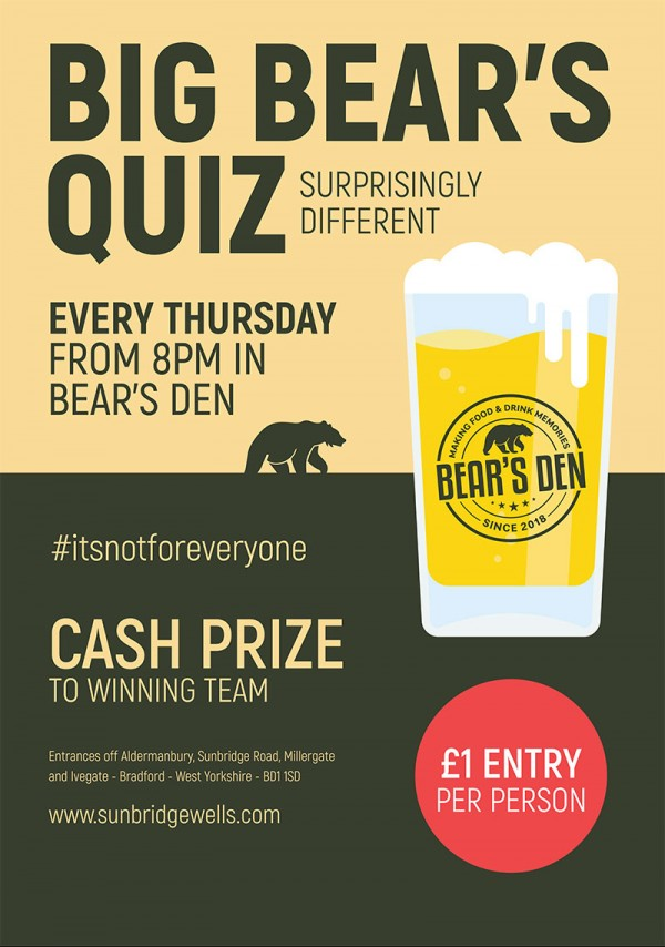 Big Bear's Quiz - Starts 8pm