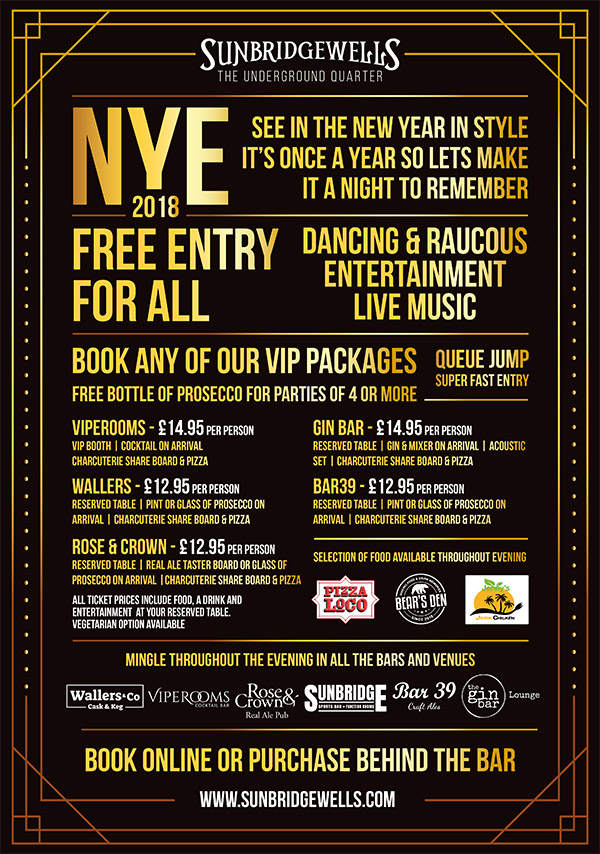 NYE 2018 - VIP Packages
