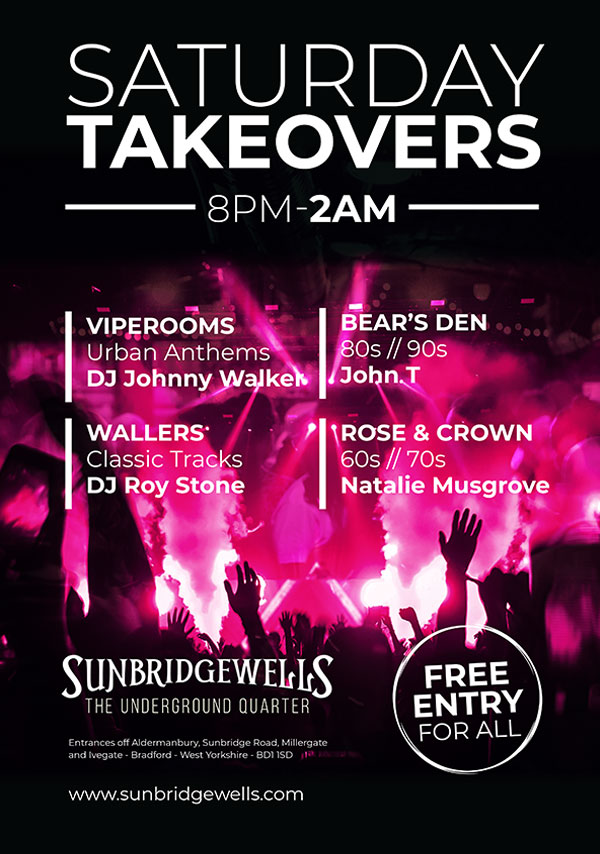 Saturday Takeovers