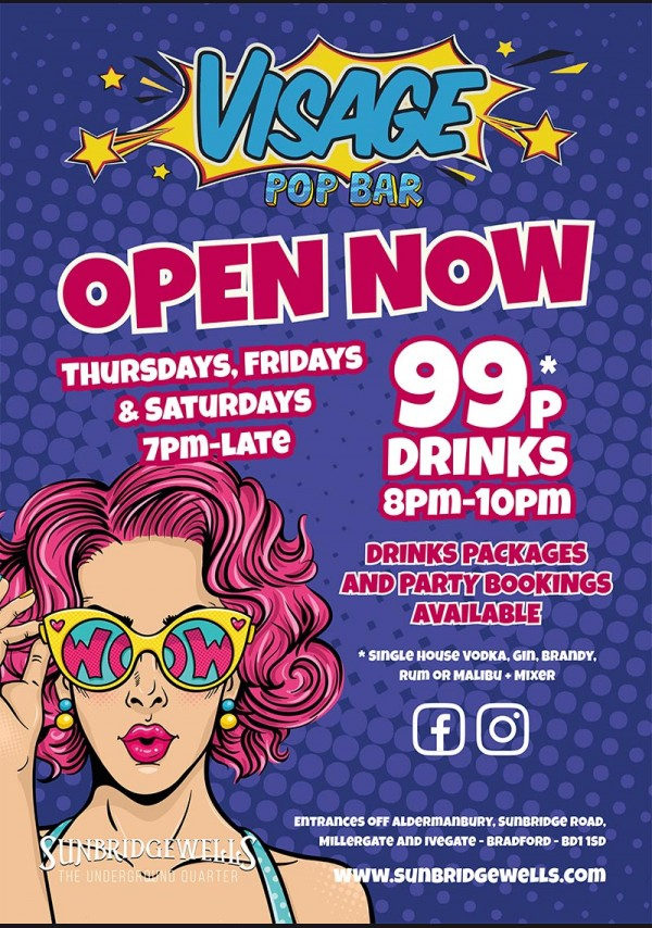 Visage Pop Bar - Open Now