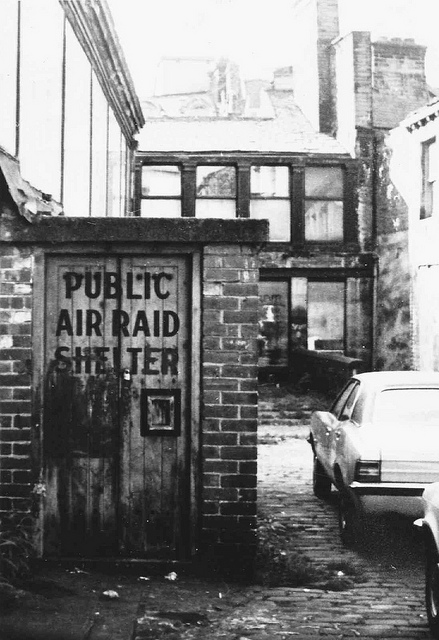 Pictured: public air raid shelter just off Godwin street